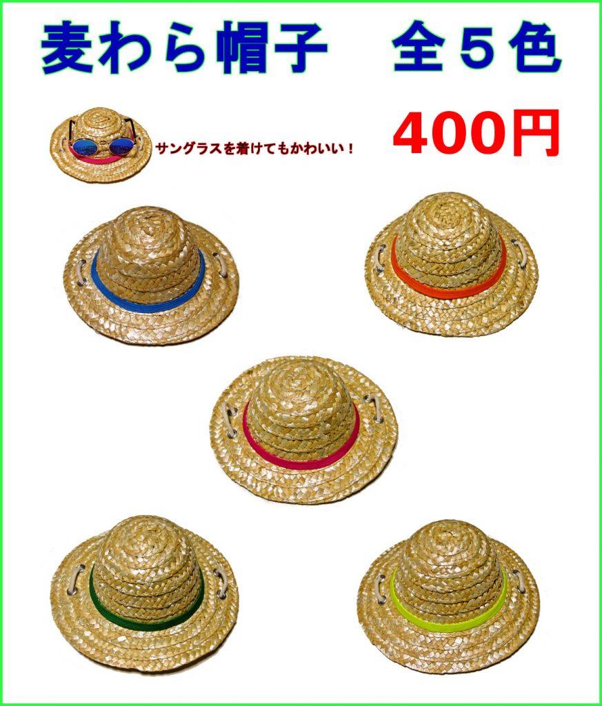 犬用の麦わら帽子