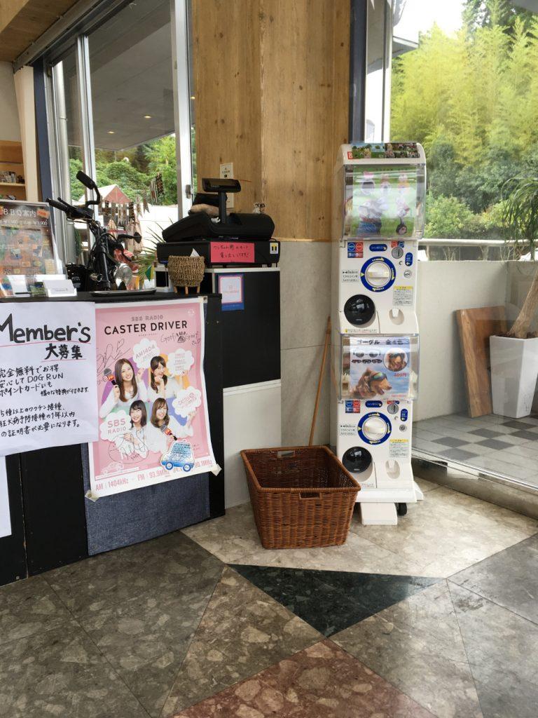静岡県浜松市のドッグカフェ、グーフィグーフ(Goofy Goof)様に設置したガチャ機